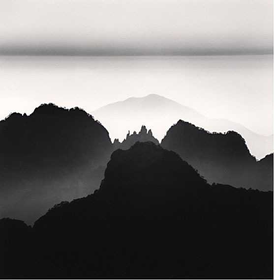 """Huangshan Study 2  Anhui, China,"" (2008)Silver gelatin print. 20cm x 20cm - Edition of 45. © Michael Kenna. Courtesy of m97 Gallery."