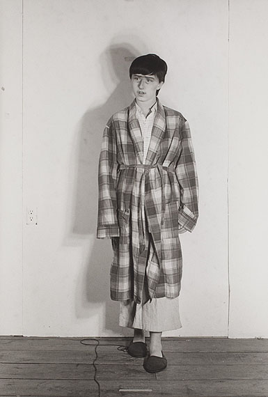 """Cindy ShermanUNTITLED # 386 (THE SON),FROM THE SERIES """"MURDER MYSTERY"""". 1976Gelatin silver print, 2000 18,8 x 12,8 cm (25,2 x 20,2 cm)"""