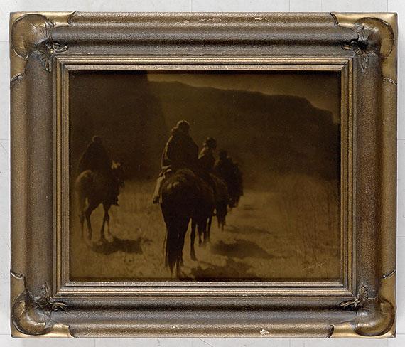 lot 185: Edward S. Curtis, The Vanishing Race, orotone, 1904.Estimate $8,000 to $12,000.