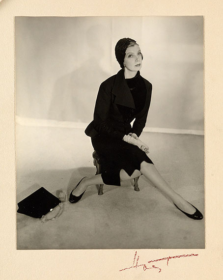 lot 219: Horst P. Horst, Pauline de Rothschild, silver print, 1940s.Estimate $6,000 to $9,000. © Horst Estate