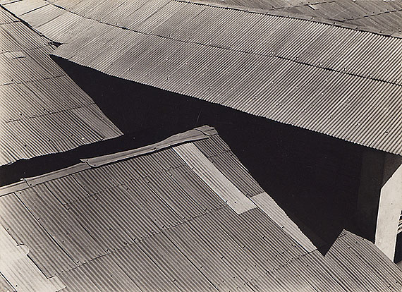 Brett Weston, Tin Roofs, Mexico, 1925, Vintage gelatin silver printCourtesy Scott Nichols Gallery