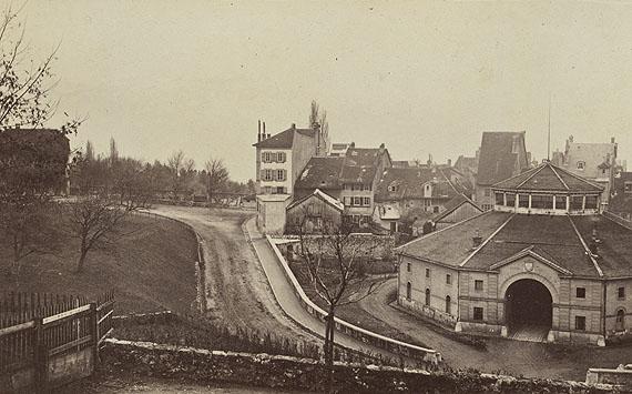 Lausanne, rue César-Roux, ancienne douane (old customs house), 1869©collections Musée historique de Lausanne