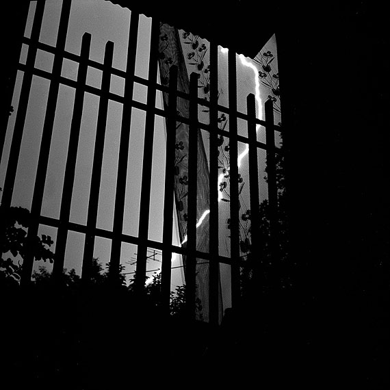 Evening shower and lighttening, Tokyo, 1986, 25 x 25cm, gelatin silver, Ed. of 15© Toshio Enomoto/courtesy Micheko Galerie