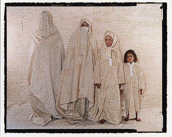Converging Territories #30, 2004© Lalla Essaydi/Courtesy Edwynn Houk Gallery, New York.