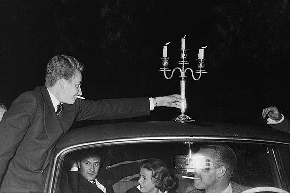 Marianne Fürstin zu Sayn-Wittgenstein-Sayn: August 1956, Sayn, Kronprinz Juan Carlos von Spanien, Fürst Paul Metternich, Gräfin Veronica Münster, Graf Wittigo Einsiedel