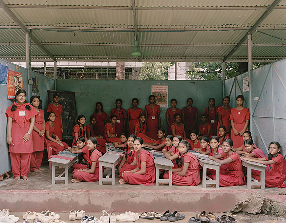 Surovi School, Dhanmondi, Dhaka, Bangladesh. Year 6, Examination, July 9th, 2009© Julian Germain