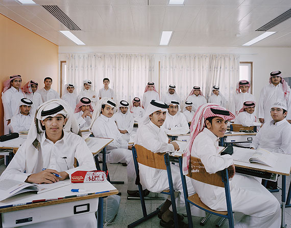 Omar bin AlKahabab Science Secondary School for Boys, Qatar. Grade 10, Religion. March 13th, 2007© Julian Germain