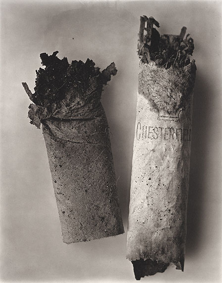 Cigarette No. 34, New York, 1972Platinum/palladium printEdition of 18© by The Irving Penn Foundation