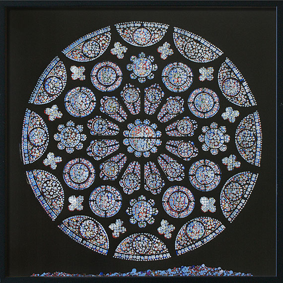 Offenbarung – Kathedrale Notre-Dame de Chartres2011perforated inkjet print, confetti50 x 50 cm | 19 x 19 inchesEdition of 2