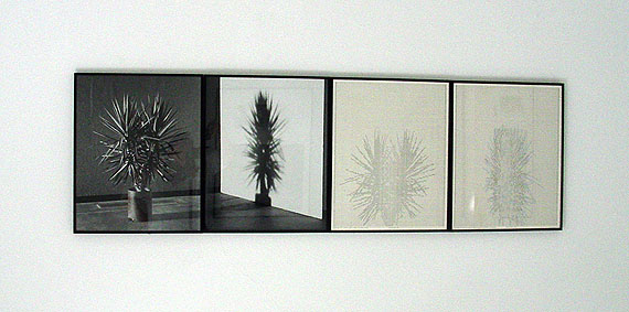Charles Gaines: Shadows, each 50 X 40 cm, Vintage B/W photographs/drawings, 1980