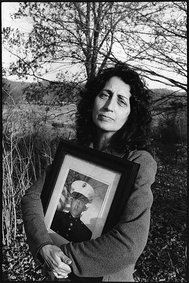 © Marissa Roth. Sara Duvall, with a Photograph of Her Son, Aaron Reed, Killed in Iraq, Chillacothe, Ohio 2005