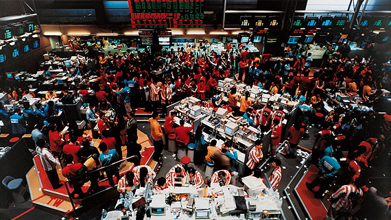 Andreas GurskySingapur Börse II, 1997