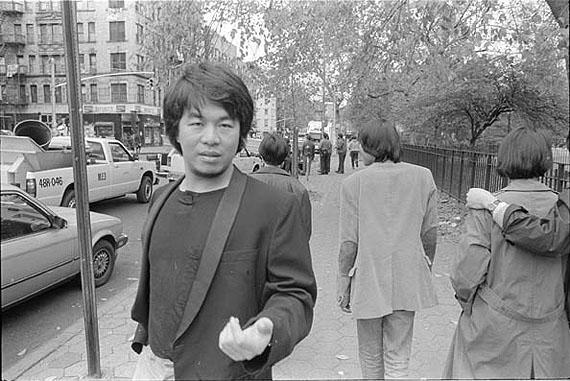 Ai Weiwei, Outside Tompkins Square Park, 1986© Ai WeiweiCourtesy Ai Weiwei Studio