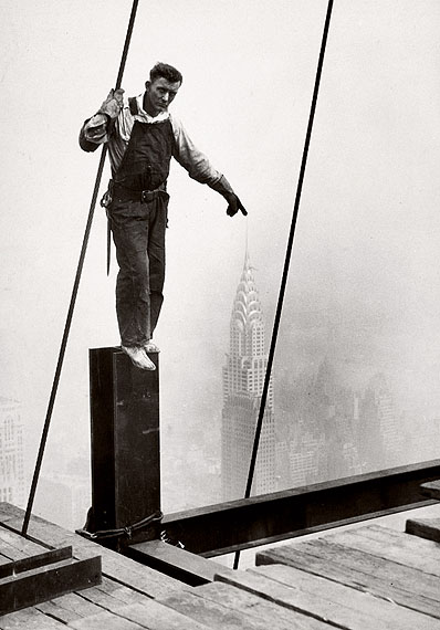 Lewis Hine, Steelworker standing on beam, 1931, © George Eastman House