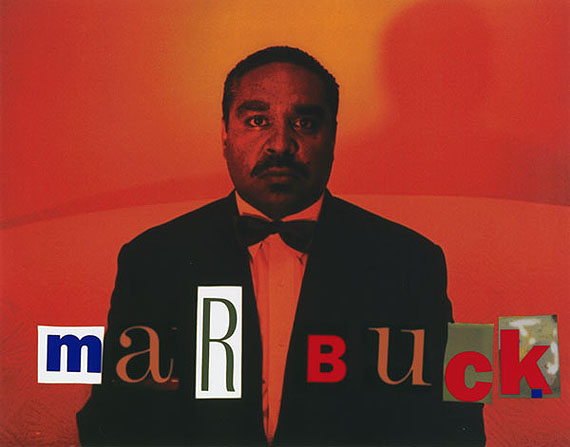 Marbuck, 1995from They call me niigarrHigh gloss pigment print31 x 39.5cm, Edition of 10© MICHAEL RILEY