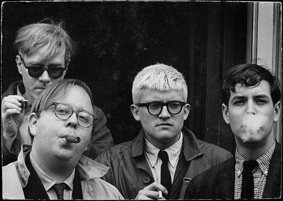 Andy Warhol, Henry Geldzahler, David Hockney, and Jeff Goodman, 19636.79 x 9.74 inch©  The Dennis Hopper Art TrustCourtesy of The Dennis Hopper Art Trust