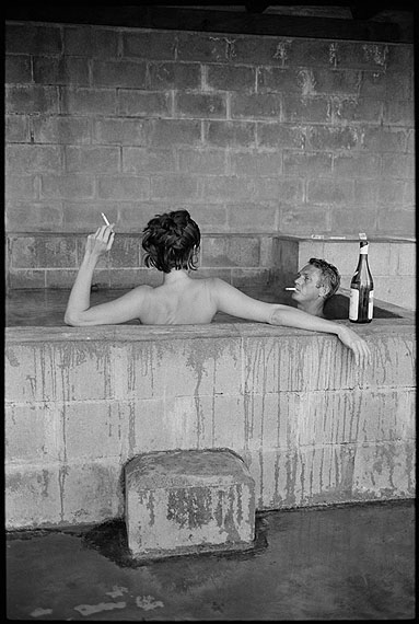 Steve McQueen and his wife, Neile Adams, in sulphur bath, Big Sur, California, 1963. © John Dominis / Time Inc. All Rights Reserved.