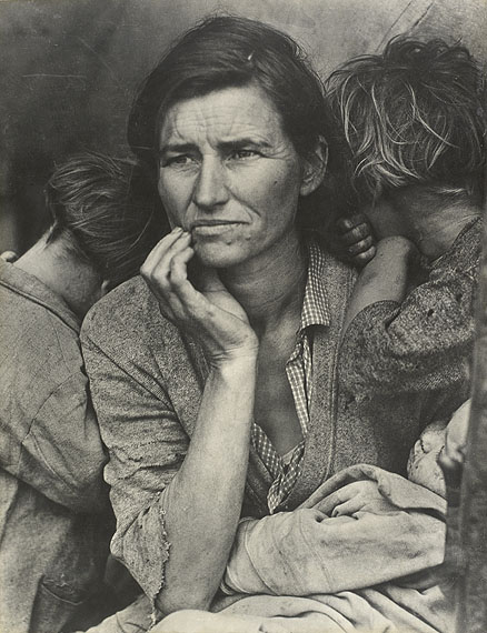 Dorothea Lange: Destitute pea pickers in California. Mother of seven children, 1936 ©The Dorothea Lange Collection, Oakland Museum of California