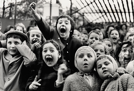 Lot 134: Alfred Eisenstaedt, Children at a Puppet Theatre, Paris, silver print, 1963, printed 1990. Estimate $30,000 to $45,000. © Alfred Eisenstaedt