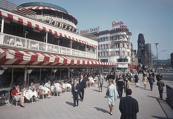Herbert Maschke Café Kranzler und Kaiser-Wilhelm-Gedächtniskirche, um 1963© Cornelius Maschke und Morlind Tumler
