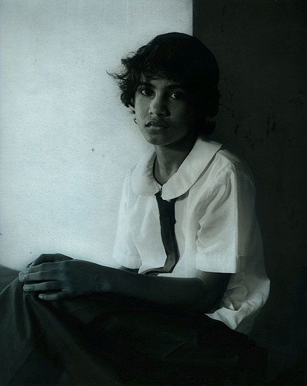 Ingar Kraus, from the Phillipine series 2007, 100x80cm, gelatin-silver print with oil paint, 2/8