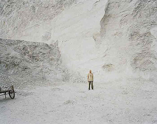 "Nadav Kander: ""Shigu II (Man in Quarry), Yunnan"", (2007) C-Print. , 75cm x 100cm - Edition of 5; 100cm x 125cm - Edition of 5; 120cm x 150cm - Edition of 3"