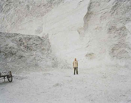 "Nadav Kander: ""Shigu II (Man in Quarry), Yunnan"", (2007) C-Print. , 75cm x 100cm - Edition of 5; 100cm x 125cm - Edition of 5; 120cm x 150cm - Edition of 3"