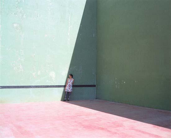 """Moi+Tennis from """"Mobile, 2002""""C-prints 160 x 130 cm (ou 80 x 64 cm),montés sur aluminium, sous plexiglas avec encadrements en bois de chêneEdition à 8 exemplaires."""