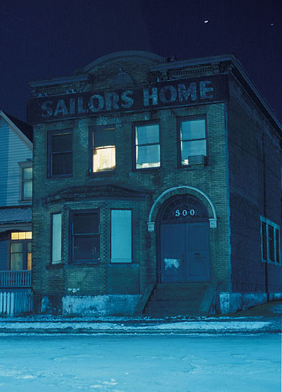 "Greg Girard: ""Sailors Home, Vancouver"", (1973) Pigment Print. 40cm x 60cm - Edition of 7. , © Greg Girard. Courtesy of m97 Gallery."