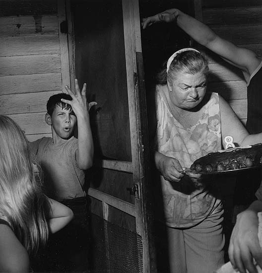 Larry Fink, Pat Sabatine's Eighth Birthday Party, April 1977. Copyright the artist, courtesy of Stephen Cohen Gallery.
