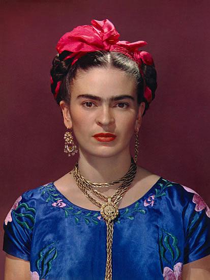 Frida Kahlo in blue dress, 1939