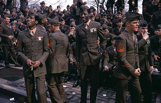 """Vietnam Veteran's Parade, New York City 1973""ed. 10, c-print"
