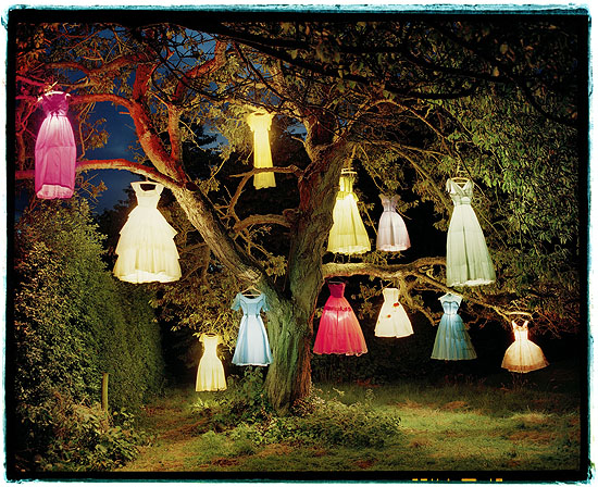 The dress / lamp tree, England 2002 © Tim Walker courtesy Michael Hoppen Contemporary C-type print