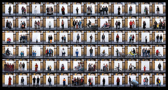 "CHEN Chunlin: ""Lessons Learned in One Day: Lhasa, Barkhor Street, Old Town"", (2007) C-Print. 80cm x 149cm - Edition of 8; 120cm x 224cm - Edition of 5; 160cm x 300cm - Edition of 3. , © CHEN Chunlin. Courtesy of m97 Gallery."