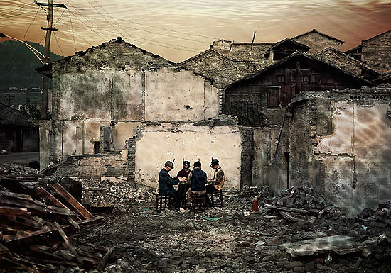 "YANG Yi: ""Uprooted #12: Old Town of Kaixian, The Ring Road"" , (2007) C-Print. 100cm x 70cm, Edition of 12; 150cm x 105cm - Edition of 6., © YANG Yi. Courtesy of m97 Gallery."