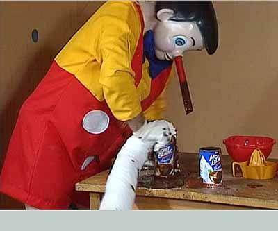 Pinocchio Pipenose Householddilemma, 1994, video, 43:58 min. ©PAUL McCARTHY