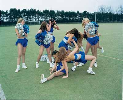 Martine Stig/ Viviane Sassen, Cheerleaders/ Campagne Condomi, 2000