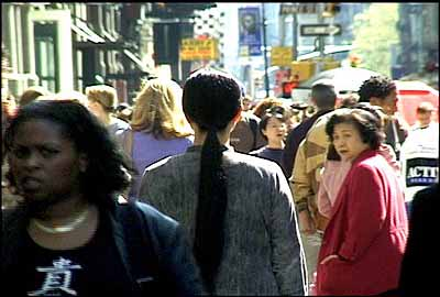 A Needle Woman, 1999–2001, video stills from performance's, New York