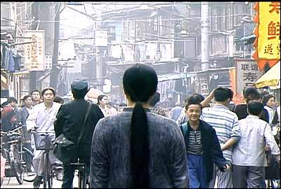 A Needle Woman, 1999–2001, video stills from performance's, Shanghai