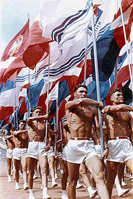 Sports parade. Moscow 1956