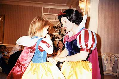 Lola and Snow White, Disneyworld Florida, 2000