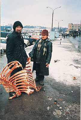 Boris Mikhailov, From Case History 1997-8, C-Print, 230 x 127 cm, credit: © Boris and Vita Mikhailov