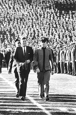 John F. Kennedy at Army Navy Game 1962