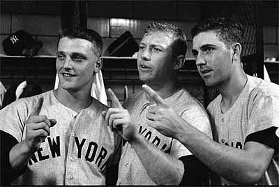 Roger Maris, Mickey Mantle, Clete Boyer, 1960 World Series, Yankee Stadium