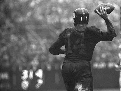 Y. A. Tittle, New York Giants, Yankee Stadium, December 12, 1964
