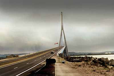 Omaha Beach (Bridge with Car), 2002, lambdaprint, 20 x 30 inches