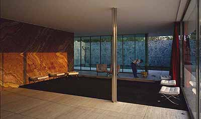© Jeff Wall . Morning Cleaning, Mies van der Rohe Foundation, Barcelona, 1999