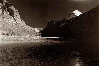 Kailash, Tibet, 2000Platinum print© Kenro Izu