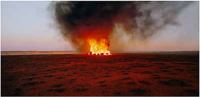 ROSEMARY LAING: One Dozen Unnatural Disasters in the Australian Landscape, Burning Ayer #6, 2003
