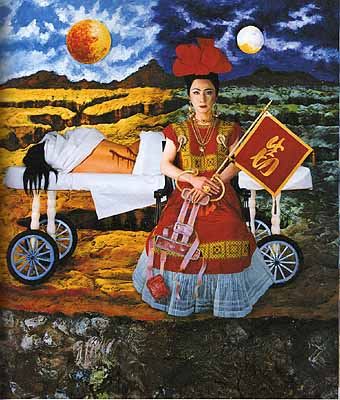 YASUMASA MORIMURA, AN INNER DIALOGUE WITH FRIDA KAHLO (WILL TO LIVE), 2001